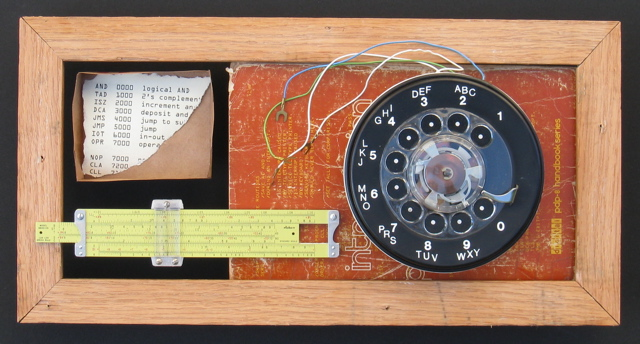 still life with phone dial