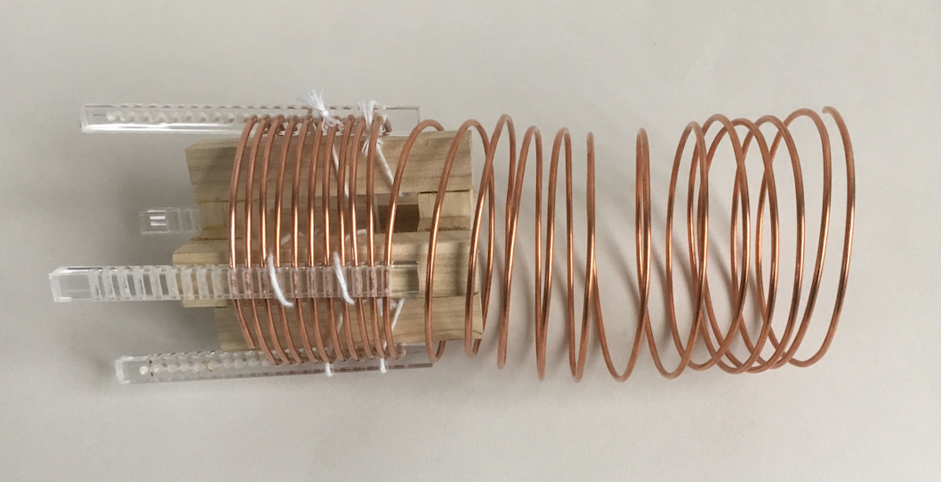 Threading coil wire